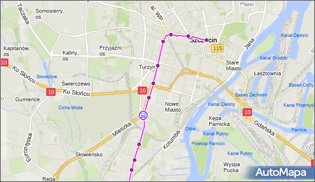 Rozkład jazdy tramwaju 12 na przystanku Plac Szyrockiego 12. ZDiTM Szczecin na mapie Targeo