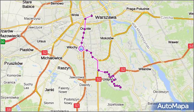 Rozkład jazdy autobusu 504 na przystanku Sasanki 03. ZTM Warszawa na mapie Targeo