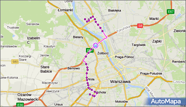 Rozkład jazdy autobusu 186 na przystanku os.Potok 03. ZTM Warszawa na mapie Targeo
