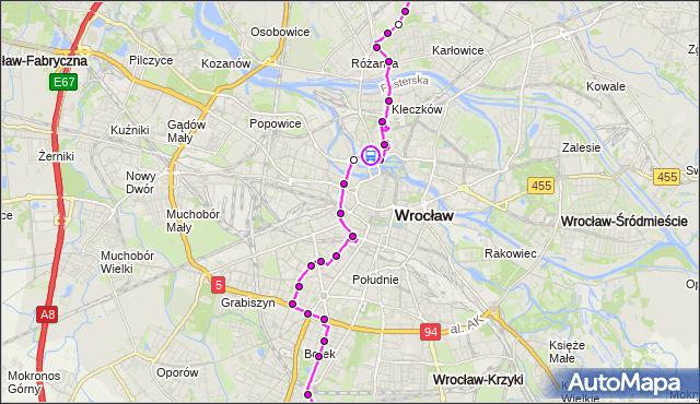Rozkład jazdy autobusu 144 na przystanku Pomorska. MPKWroclaw na mapie Targeo