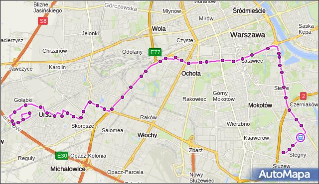 Rozkład jazdy autobusu 187 na przystanku Klarysewska 02. ZTM Warszawa na mapie Targeo