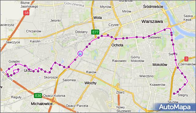 Rozkład jazdy autobusu 187 na przystanku PKP WKD Al.Jerozolimskie 01. ZTM Warszawa na mapie Targeo