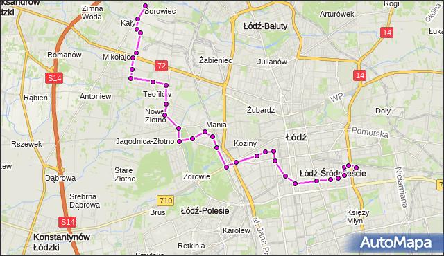 Rozkład jazdy autobusu 83 na przystanku Przędzalniana/Nawrot. MPK Łódź na mapie Targeo