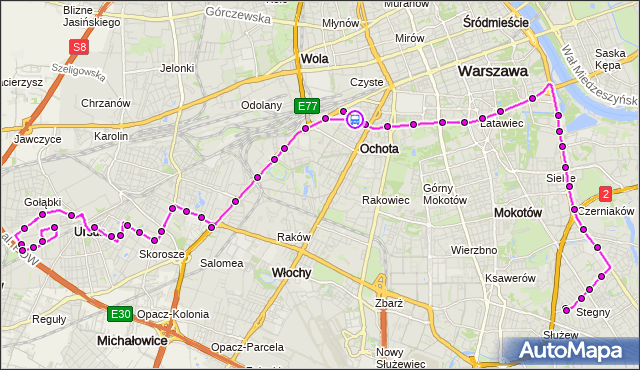 Rozkład jazdy autobusu 187 na przystanku Hala Kopińska 02. ZTM Warszawa na mapie Targeo