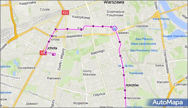 Rozkład jazdy tramwaju 14 na przystanku pl.Zbawiciela 04. ZTM Warszawa na mapie Targeo