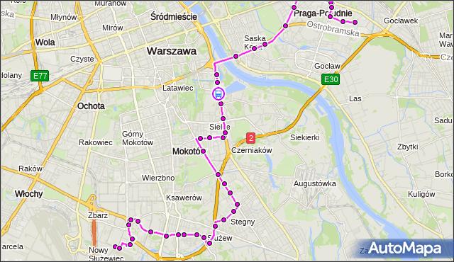 Rozkład jazdy autobusu 141 na przystanku Szwoleżerów 02. ZTM Warszawa na mapie Targeo