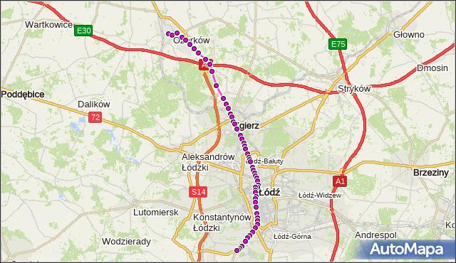 Rozkład jazdy tramwaju 46 na przystanku Zgierska/Adwokacka. MPK Łódź na mapie Targeo