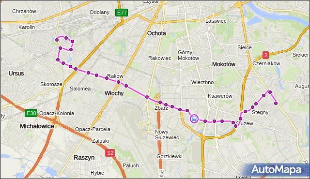 Rozkład jazdy autobusu 189 na przystanku Bełdan 02. ZTM Warszawa na mapie Targeo