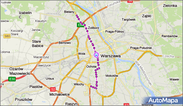 Rozkład jazdy tramwaju 17 na przystanku Dw.Centralny 09. ZTM Warszawa na mapie Targeo