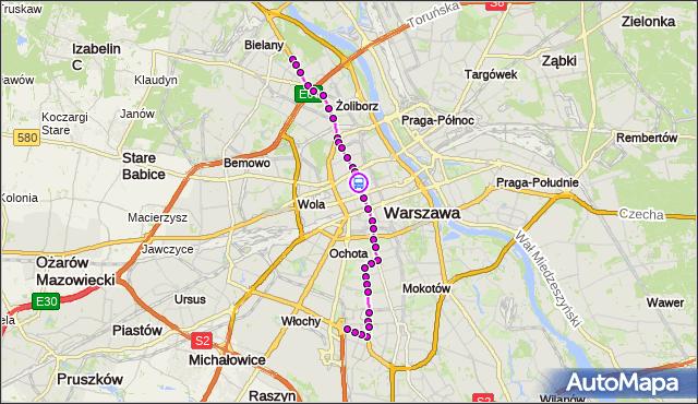 Rozkład jazdy tramwaju 17 na przystanku Hala Mirowska 03. ZTM Warszawa na mapie Targeo