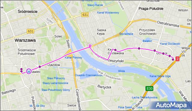 Rozkład jazdy autobusu 411 na przystanku Marszałkowska 02. ZTM Warszawa na mapie Targeo