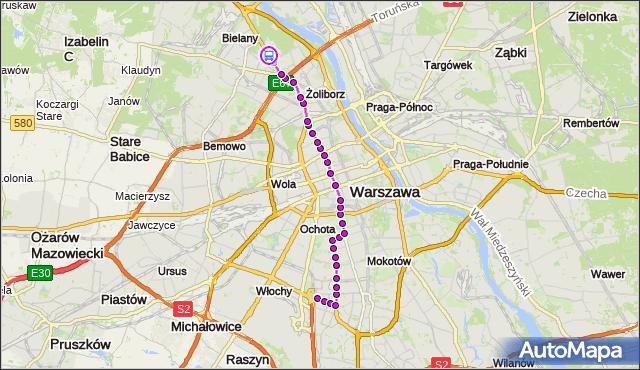 Rozkład jazdy tramwaju 17 na przystanku AWF 04. ZTM Warszawa na mapie Targeo