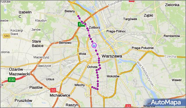 Rozkład jazdy tramwaju 17 na przystanku Kino Femina 10. ZTM Warszawa na mapie Targeo