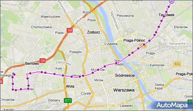 Rozkład jazdy autobusu 190 na przystanku Krynoliny 01. ZTM Warszawa na mapie Targeo