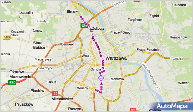 Rozkład jazdy tramwaju 17 na przystanku Wołoska-Szpital 04. ZTM Warszawa na mapie Targeo