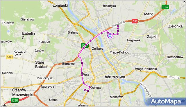Rozkład jazdy autobusu 414 na przystanku Bartnicza 04. ZTM Warszawa na mapie Targeo