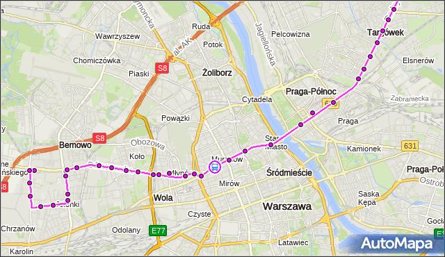 Rozkład jazdy autobusu 190 na przystanku Wola-Ratusz 01. ZTM Warszawa na mapie Targeo