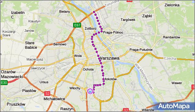 Rozkład jazdy tramwaju 18 na przystanku Wynalazek 01. ZTM Warszawa na mapie Targeo