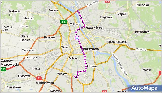 Rozkład jazdy tramwaju 18 na przystanku Metro Ratusz-Arsenał 03. ZTM Warszawa na mapie Targeo