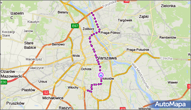 Rozkład jazdy tramwaju 18 na przystanku Morskie Oko 03. ZTM Warszawa na mapie Targeo