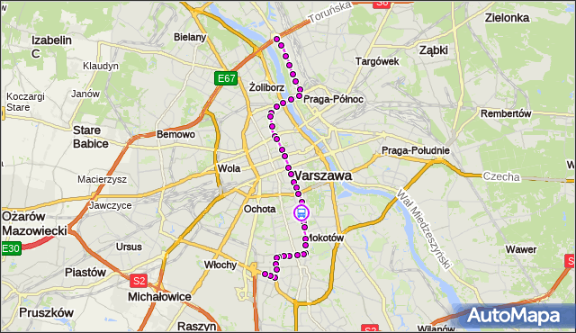 Rozkład jazdy tramwaju 18 na przystanku Rakowiecka 05. ZTM Warszawa na mapie Targeo