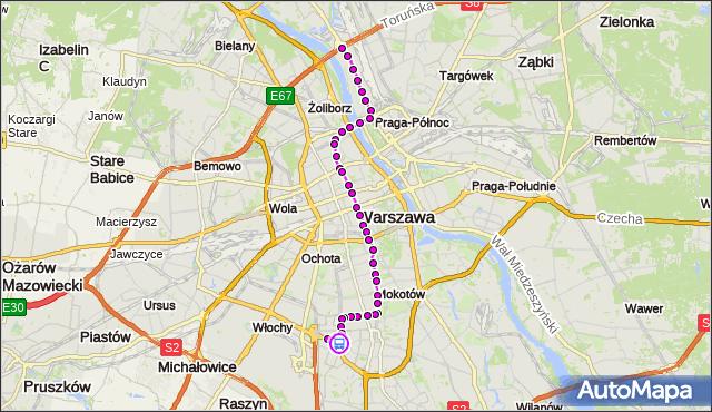 Rozkład jazdy tramwaju 18 na przystanku rondo Unii Europejskiej 04. ZTM Warszawa na mapie Targeo