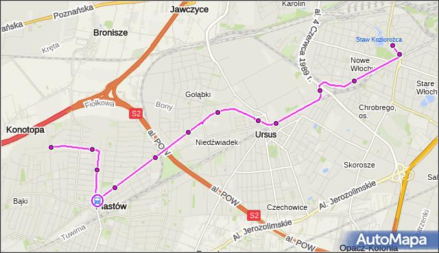 Rozkład jazdy autobusu 716 na przystanku Traugutta 01. ZTM Warszawa na mapie Targeo