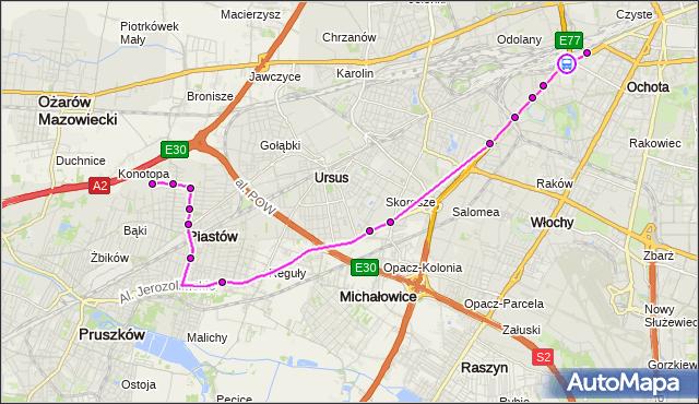 Rozkład jazdy autobusu 717 na przystanku rondo Zesłańców Syberyjskich 02. ZTM Warszawa na mapie Targeo