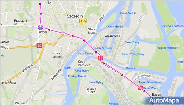Rozkład jazdy tramwaju 7 na przystanku Turzyn 21. ZDiTM Szczecin na mapie Targeo
