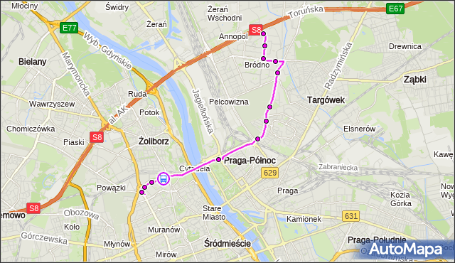 Rozkład jazdy autobusu 500 na przystanku Dw.Gdański 03. ZTM Warszawa na mapie Targeo
