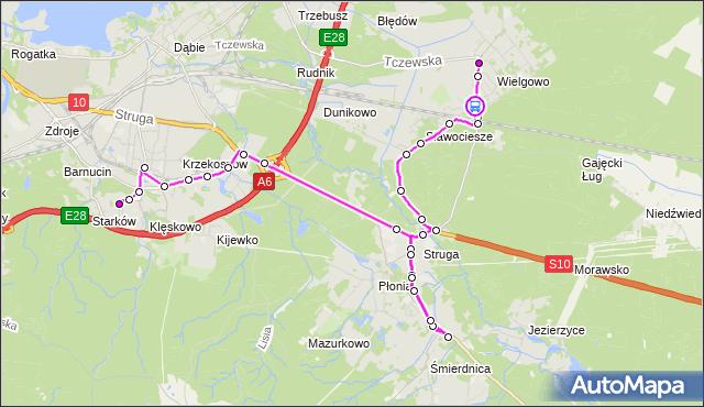 Rozkład jazdy autobusu 534 na przystanku Wiślana 11. ZDiTM Szczecin na mapie Targeo