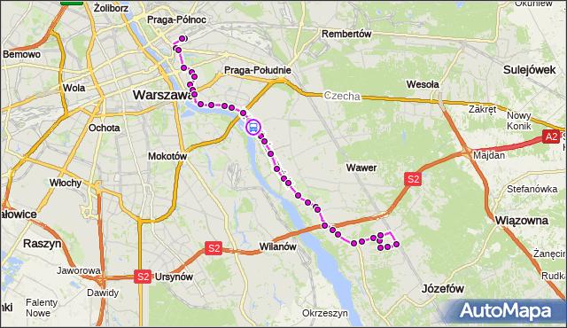 Rozkład jazdy autobusu 146 na przystanku Kadetów 01. ZTM Warszawa na mapie Targeo