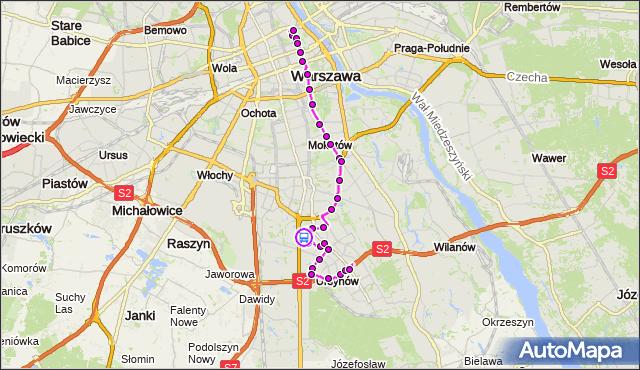 Rozkład jazdy autobusu 195 na przystanku Megasam 01. ZTM Warszawa na mapie Targeo