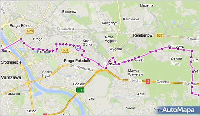 Rozkład jazdy autobusu N21 na przystanku Osiedle Młodych 02. ZTM Warszawa na mapie Targeo