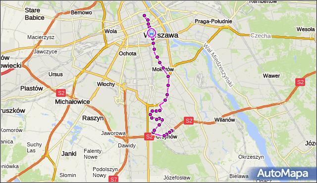Rozkład jazdy autobusu 195 na przystanku pl.Trzech Krzyży 02. ZTM Warszawa na mapie Targeo