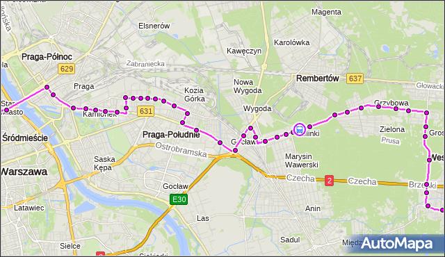Rozkład jazdy autobusu N21 na przystanku Spółdzielnia Noma 02. ZTM Warszawa na mapie Targeo