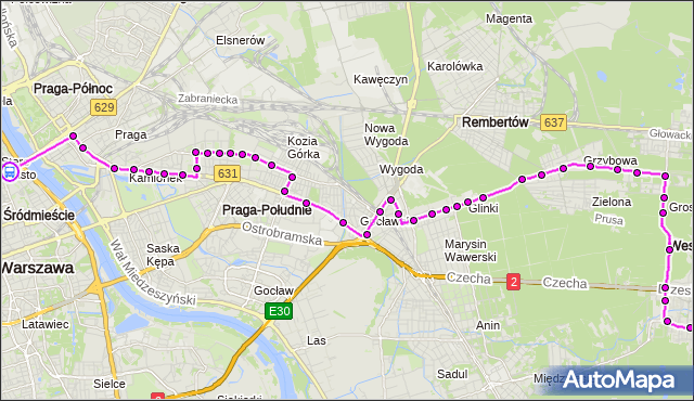 Rozkład jazdy autobusu N21 na przystanku Stare Miasto 01. ZTM Warszawa na mapie Targeo