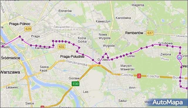 Rozkład jazdy autobusu N21 na przystanku Staszica 02. ZTM Warszawa na mapie Targeo
