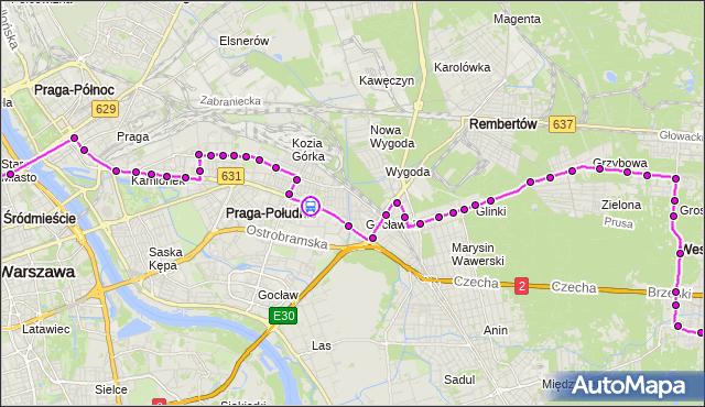 Rozkład jazdy autobusu N21 na przystanku Żółkiewskiego 02. ZTM Warszawa na mapie Targeo