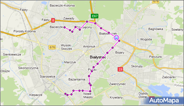 Rozkład jazdy autobusu 16 na przystanku Andersa/Fabryka Mebli. BKM na mapie Targeo