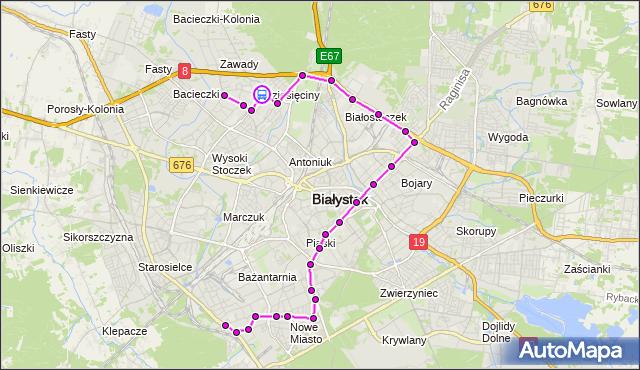 Rozkład jazdy autobusu 16 na przystanku Gen. J.Hallera/Parking. BKM na mapie Targeo