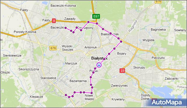 Rozkład jazdy autobusu 16 na przystanku Legionowa/Piękna. BKM na mapie Targeo