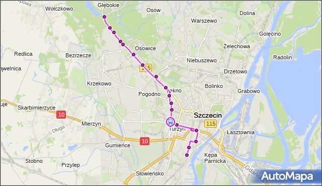 Rozkład jazdy tramwaju 9 na przystanku Turzyn 12. ZDiTM Szczecin na mapie Targeo