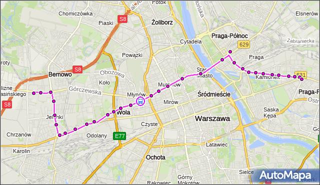 Rozkład jazdy tramwaju 26 na przystanku Zajezdnia Wola 03. ZTM Warszawa na mapie Targeo