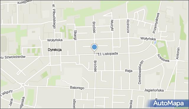 Chełm, 11 Listopada, mapa Chełma