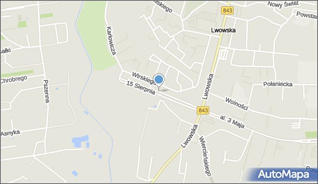 Chełm, 15 Sierpnia, mapa Chełma