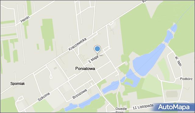 Poniatowa powiat opolski, 1 Maja, mapa Poniatowa powiat opolski