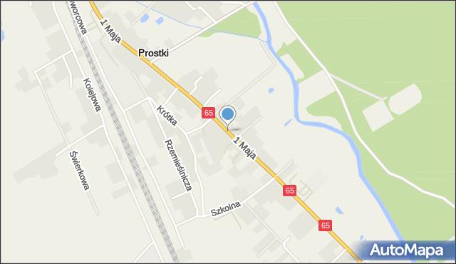 Prostki, 1 Maja, mapa Prostki