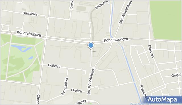 Warszawa, 20 Dywizji Piechoty Wojska Polskiego, mapa Warszawy