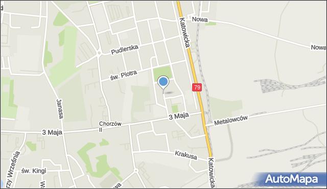 Chorzów, 23 Czerwca, mapa Chorzów